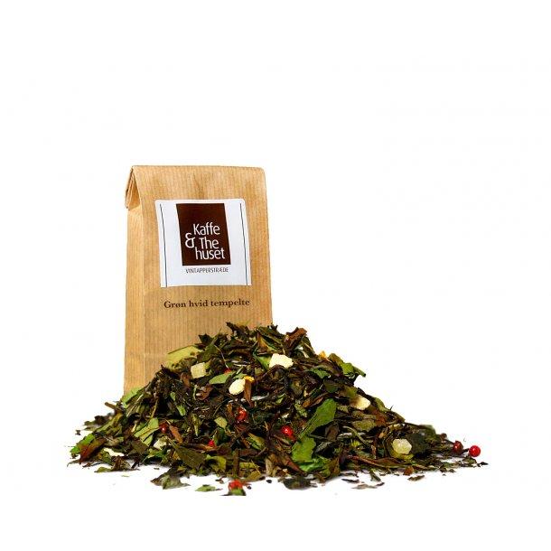Grøn hvid tempel te
