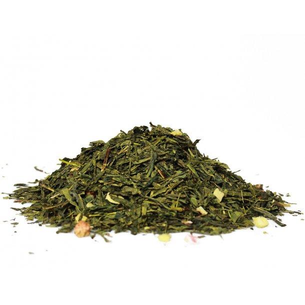 Husets grøn jordbær rabarber te